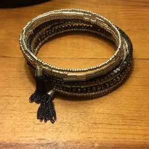 Stella & Dot - Celine Wrap Bracelet Silver